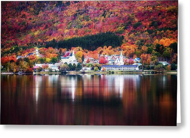 Island Pond Vermont Greeting Card by Sherman Perry