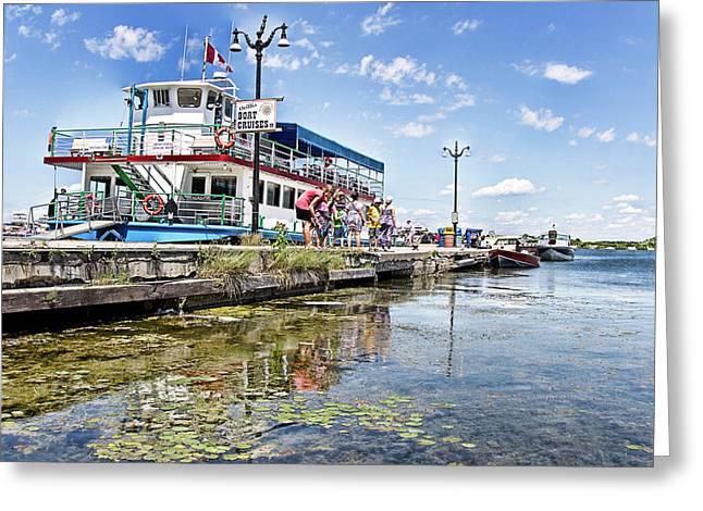 Island Princess At Harbour Dock Greeting Card