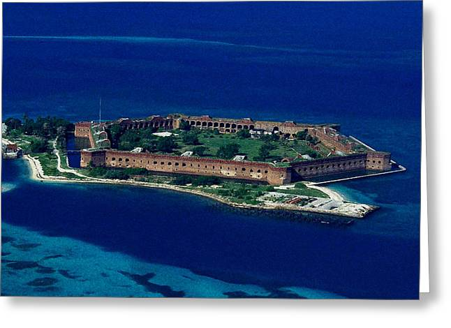Island Prison Greeting Card by Skip Willits