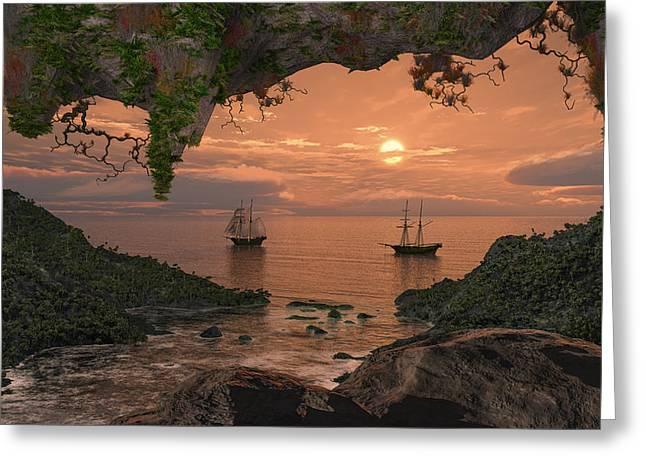 Island Retreat Greeting Card by Mary Almond