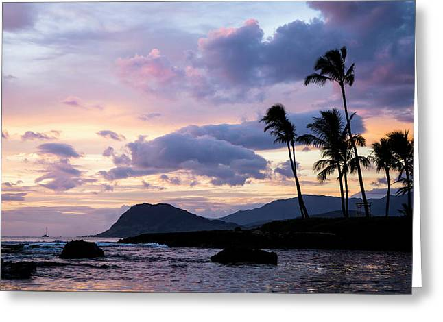 Island Silhouettes  Greeting Card by Heather Applegate