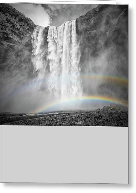 Iceland Skogafoss - Colorkey Greeting Card