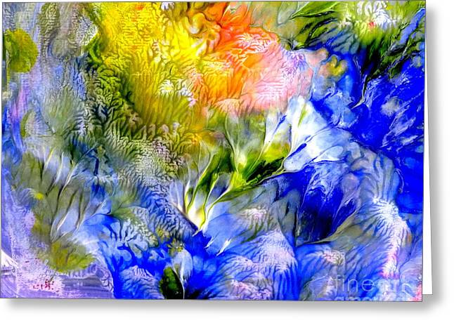 Island Spring Greeting Card by Fred Wilson