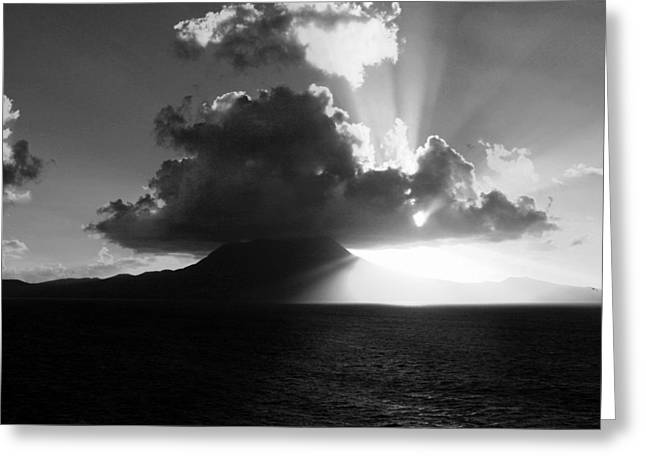 Island Sunrise 2  Greeting Card by Perry Webster