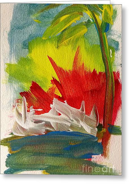 Island Sunset Greeting Card by Fred Wilson