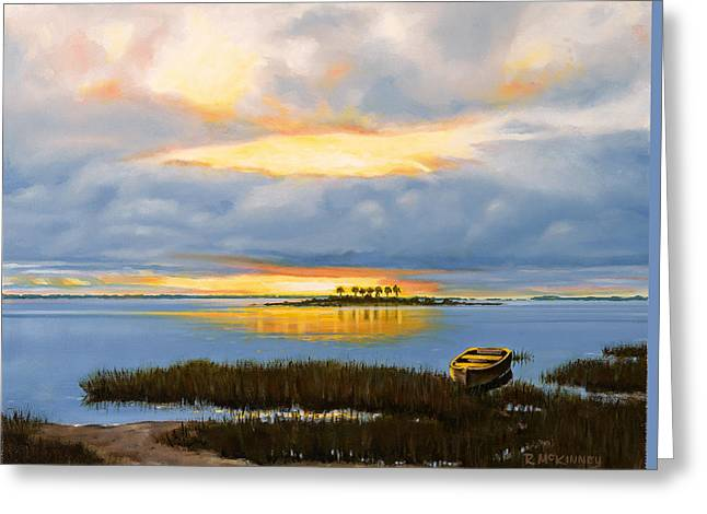 Island Sunset Greeting Card by Rick McKinney