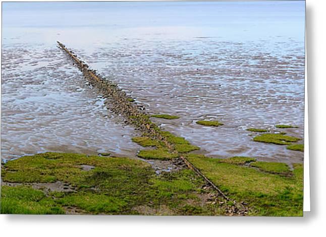Island Sylt - Mudflat Greeting Card by Marc Huebner