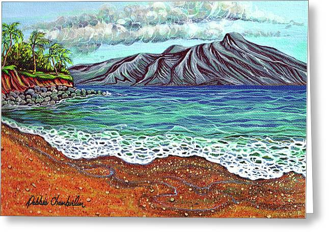 Island Time Greeting Card by Debbie Chamberlin