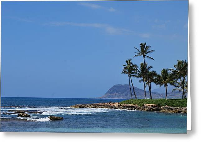 Greeting Card featuring the photograph Island View by Amee Cave
