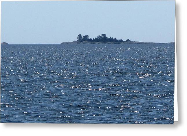 Islands At The Edge Of Georgian Bay  Greeting Card