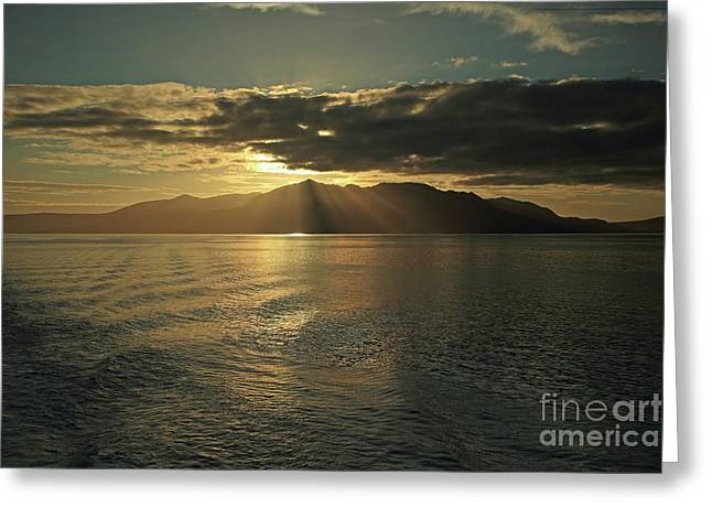 Isle Of Arran At Sunset Greeting Card
