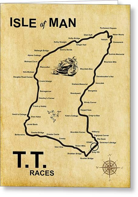 Isle Of Man Tt Greeting Card by Mark Rogan
