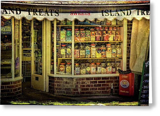 Isle Of Wight Candy Store Greeting Card