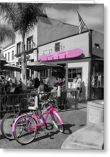 Isn't She Pretty In Pink Greeting Card by Rich Beer