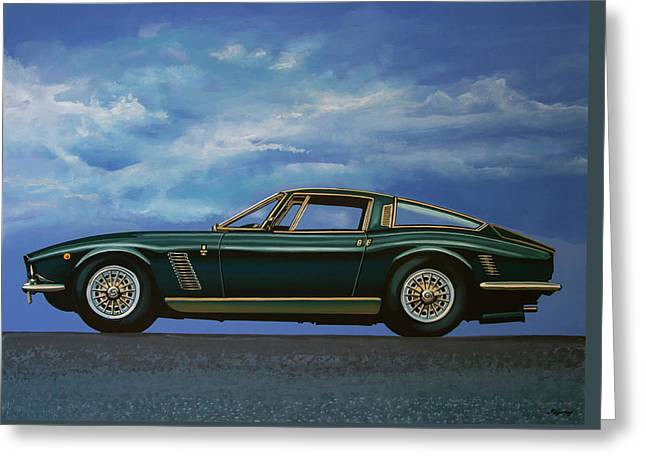 Iso Grifo Gl 1963 Painting Greeting Card