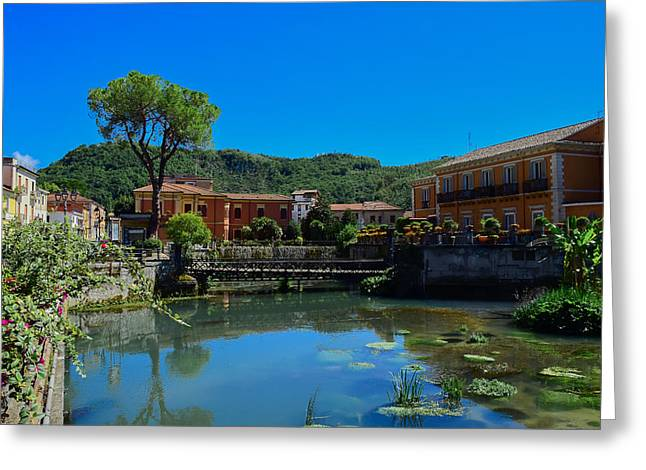 Greeting Card featuring the photograph Isola Del Liri by Dany Lison