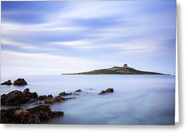Isola Delle Femmine Greeting Card by Ian Good