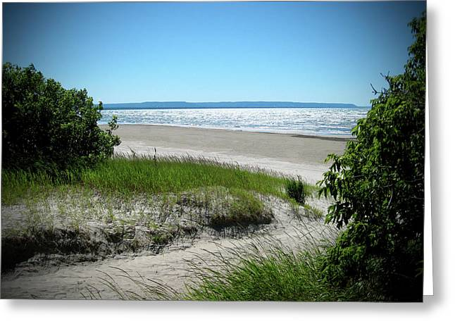 Oakville Artists Greeting Cards - Isolated Beach Greeting Card by Kamil Swiatek