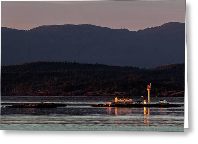 Isolated Lighthouse Greeting Card