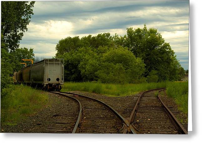 Isolation On The Tracks Greeting Card by Nicole Kramer