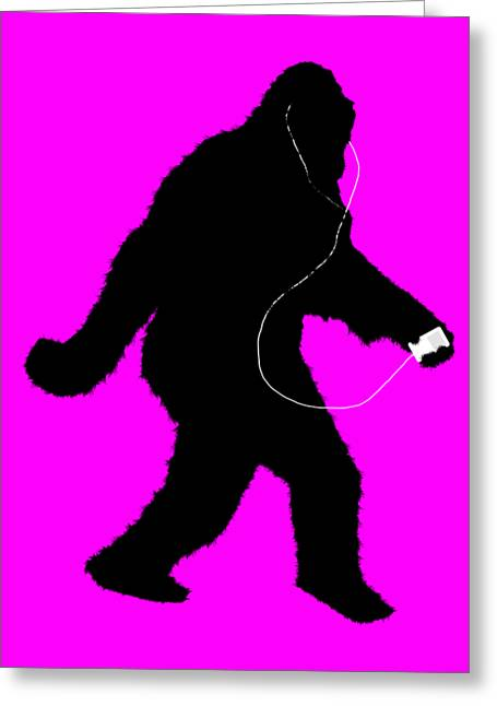 iSquatch - Hot Pink Greeting Card by Gravityx9  Designs