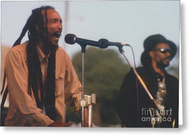 Israel Vibration Greeting Card by Mia Alexander