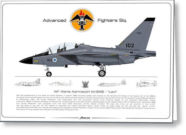 Israeli Air Force Advanced Fighters Sqd. M-346 Lavi  Greeting Card