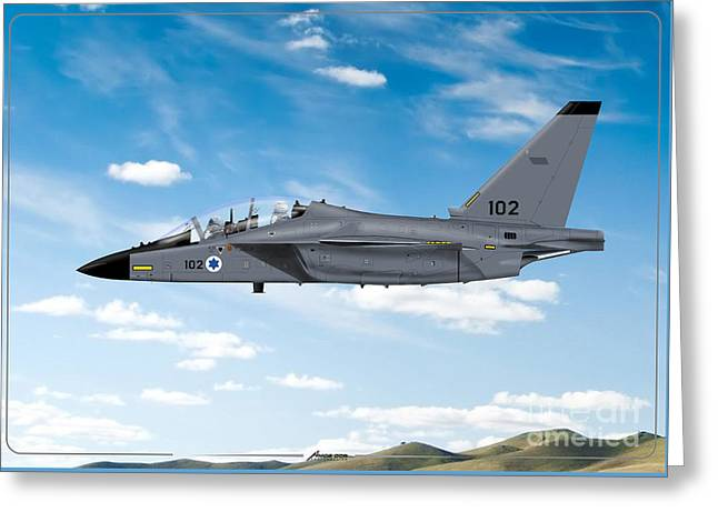 Israeli Air Force Airmacchi M-346i Master Lavi In Flight Greeting Card