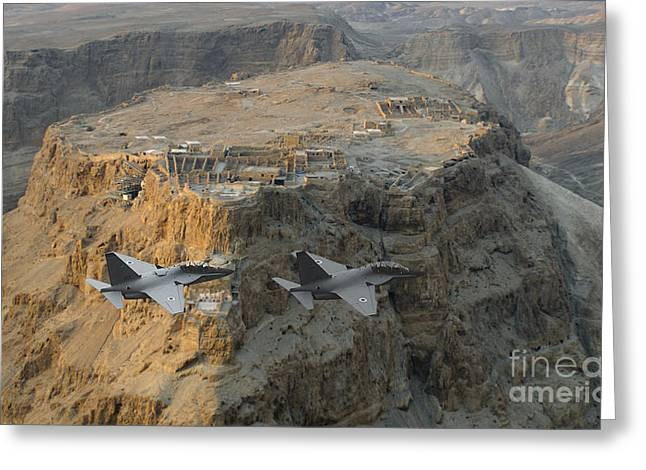 Israeli Air Force Lavi Over Massda  Greeting Card