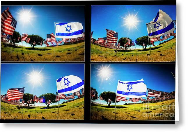 Israeli Pride Greeting Card by Julian Starks