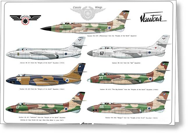 Israeli Air Force Sncaso Voutours Greeting Card