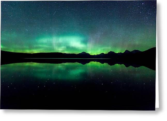 Iss Aurora Greeting Card by Aaron Aldrich