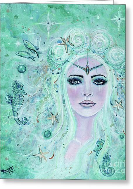 Issiana Mermaid Greeting Card by Renee Lavoie