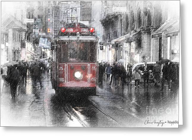 Istambool Historic Tram Greeting Card