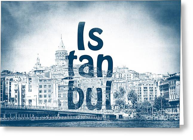 Istanbul Blue Greeting Card by Emily Kay