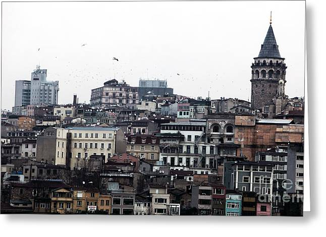 Istanbul Buildings Greeting Card by John Rizzuto
