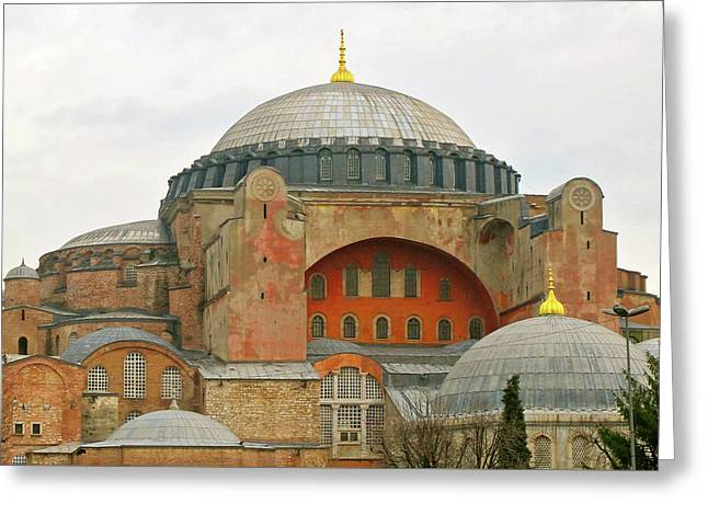 Greeting Card featuring the photograph Istanbul Dome by Munir Alawi