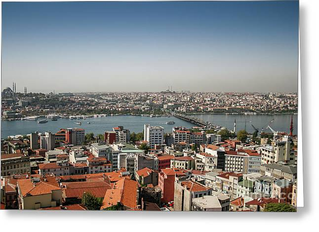 Istanbul East And West Greeting Card