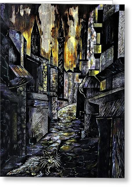 Istanbul Impressions. Lost In The City. Greeting Card