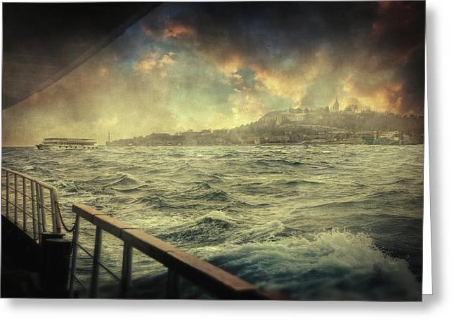 Istanbul Greeting Card by Taylan Apukovska