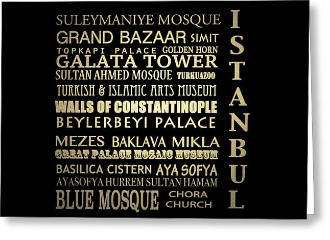 Istanbul Turkey Famous Landmarks Greeting Card by Patricia Lintner