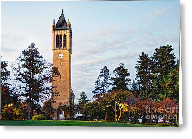 Iowa State Campanile Greeting Card by Kevin Schuchmann