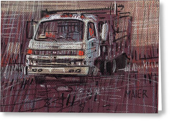 Isuzo Truck Greeting Card by Donald Maier