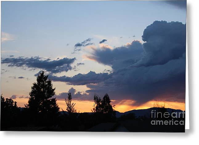 Greeting Card featuring the photograph It Cometh by Marie Neder