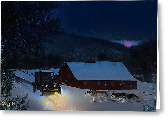 It Could've Happened Wolves Of Colorado Greeting Card by J Griff Griffin