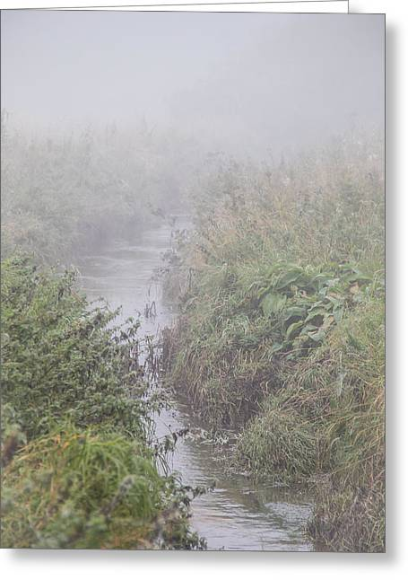 It Flows From The Mist Greeting Card by Odd Jeppesen