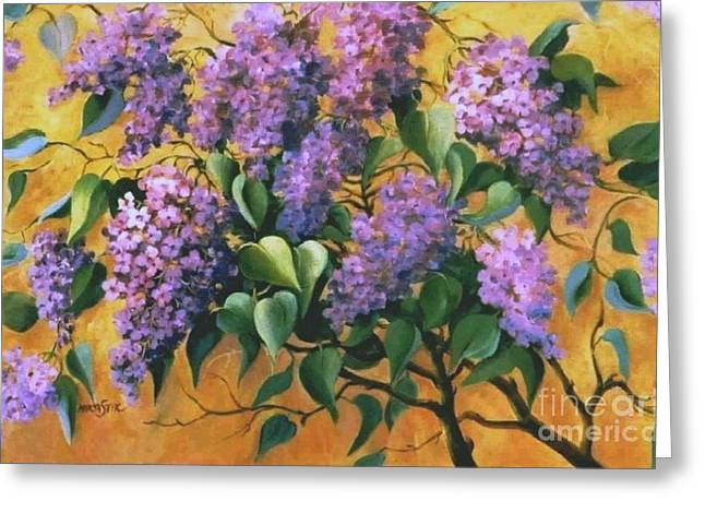 It Is Lilac Time 2 Greeting Card by Marta Styk
