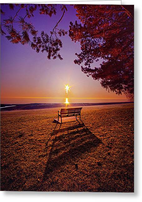 Greeting Card featuring the photograph It Is Words With You I Seek by Phil Koch