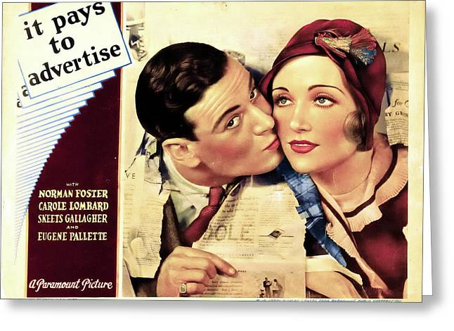 It Pays To Advertise 1931 Greeting Card by Mountain Dreams