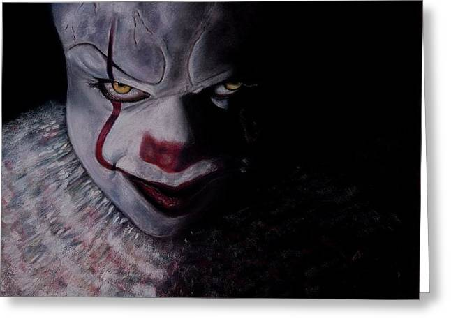 It- Pennywise 2017 Greeting Card by Claudia Jorio